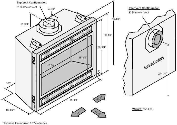Pin Gas fireplace dimensions image search results on Pinterest