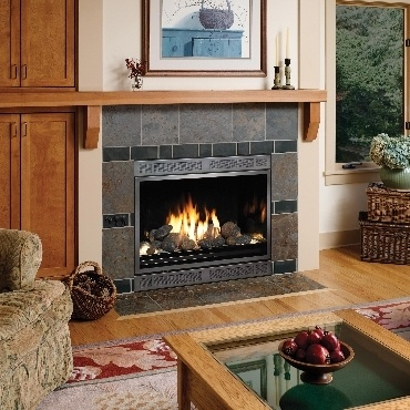 Avalon 864 HO CF GSR2 Scr Fireplace Insert Installed