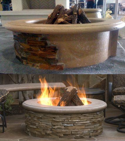 Contractors Model Outdoor Firepit