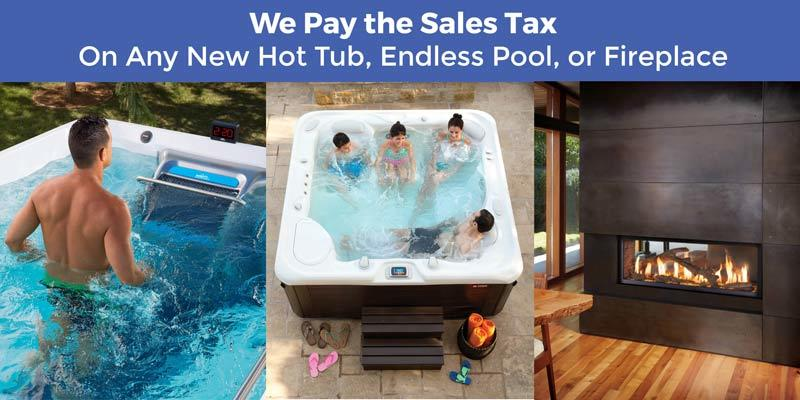 Hot Tub, endless pool and fireplace special