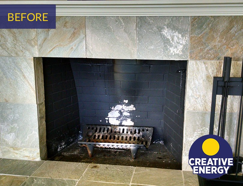 Before fireplace installation creative energy