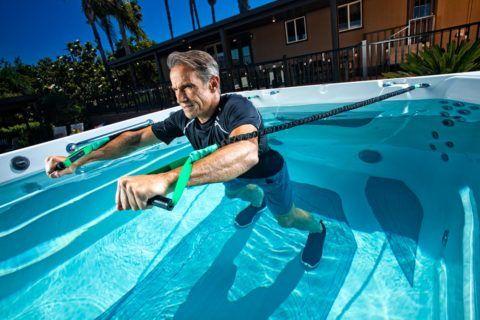 Endless Pools Swim Spas E550 resistance bands.