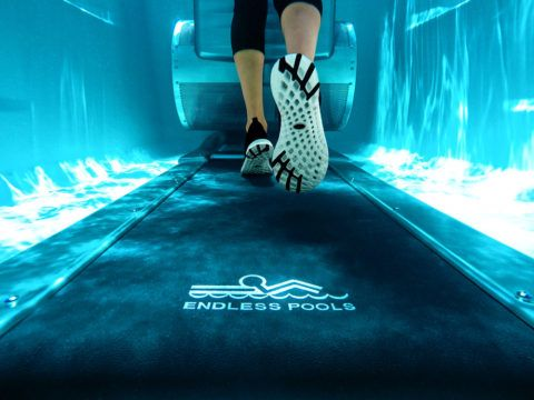 Endless Pools Swim Spas E550 underwater treadmill.