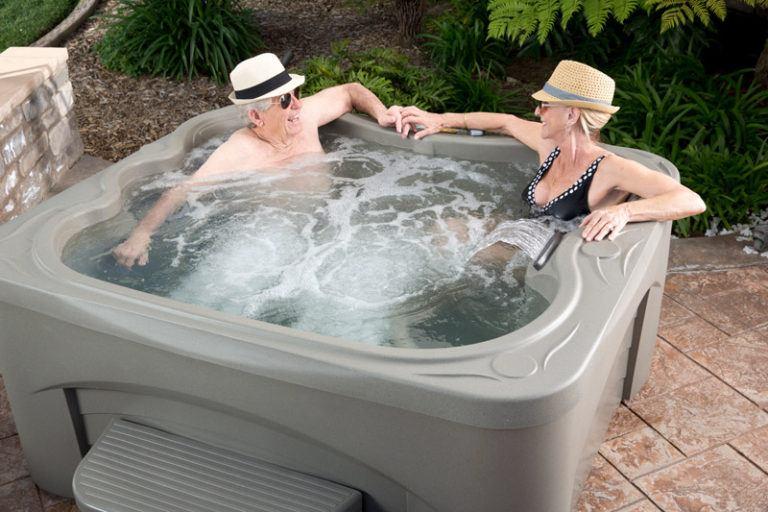 mature couple enjoying fantasy spa