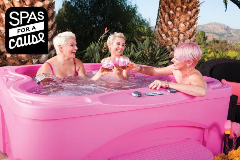 Women enjoying a pink fantasy spa